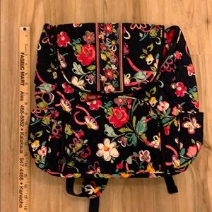 Vera Bradley Navy Floral Backpack